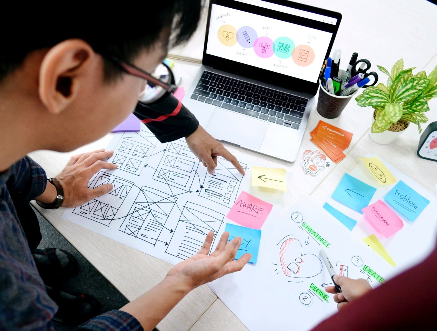 UX consultants researching